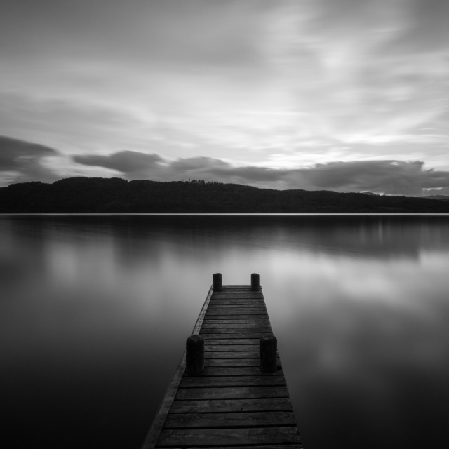 """""""black and white jetty"""" stock image"""