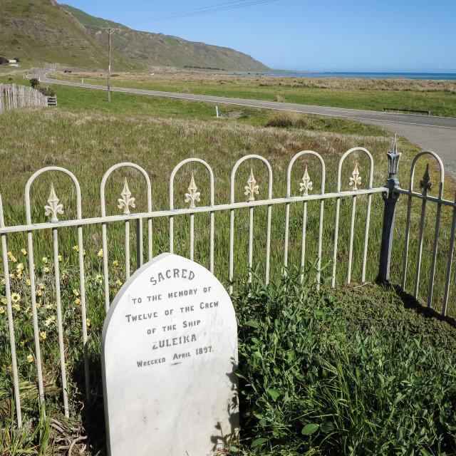 """Zuleika shipwreck memorial"" stock image"