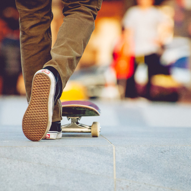 """Skateboarder's Feet"" stock image"