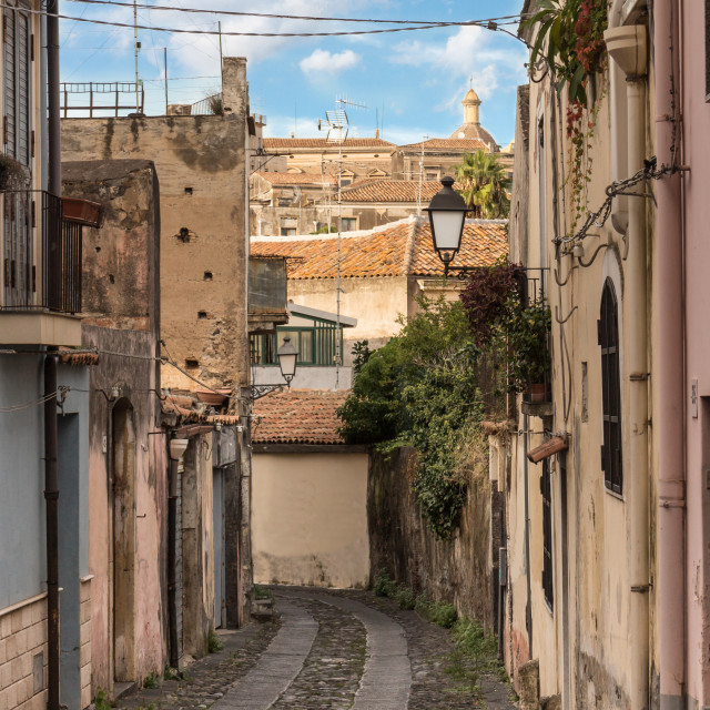 """""""The sicilian old street"""" stock image"""