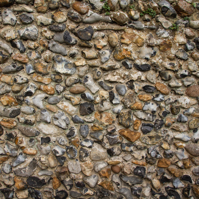 """Flint wall"" stock image"
