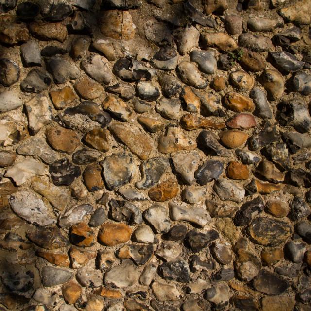 """Flint wall sun/shade"" stock image"