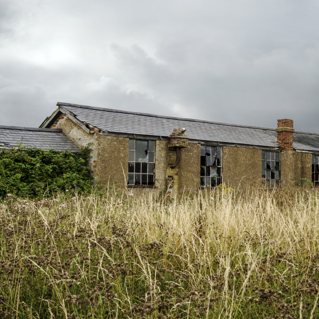 """Derelict Building Stow Maries Airfield"" stock image"