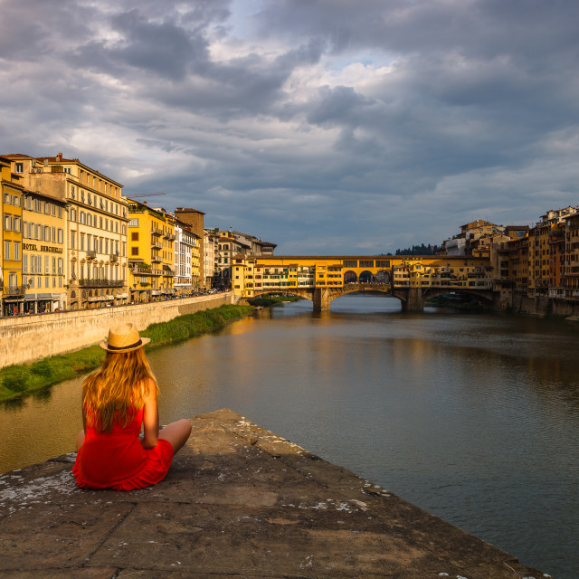 """Florence sunset"" stock image"