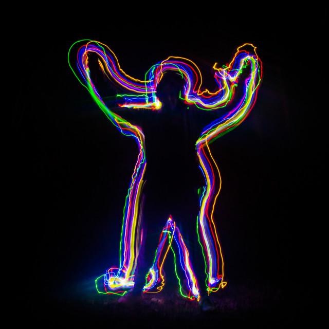 """Rainbow Man"" stock image"
