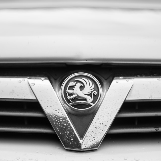 """Vauxhall badge and grill"" stock image"