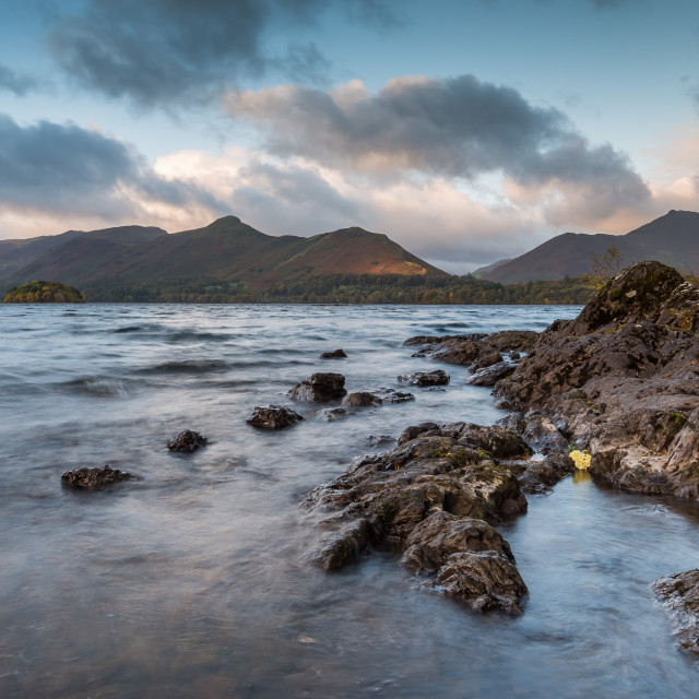 """Catbells from Friars Crag"" stock image"