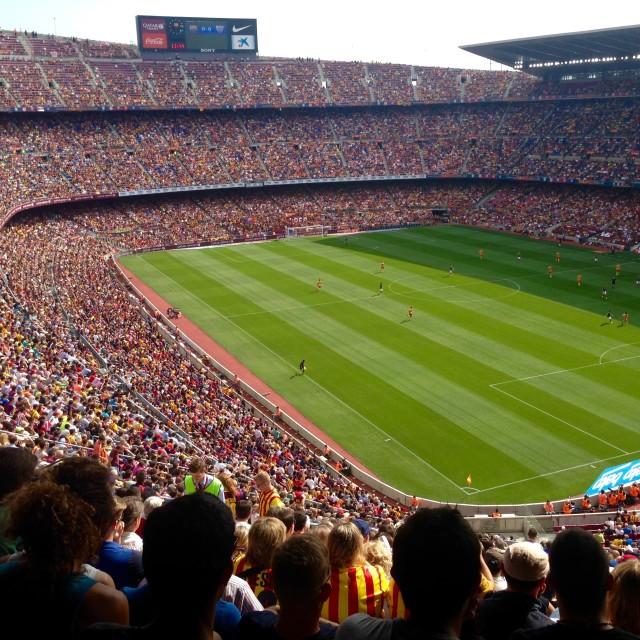 """Camp Nou"" stock image"