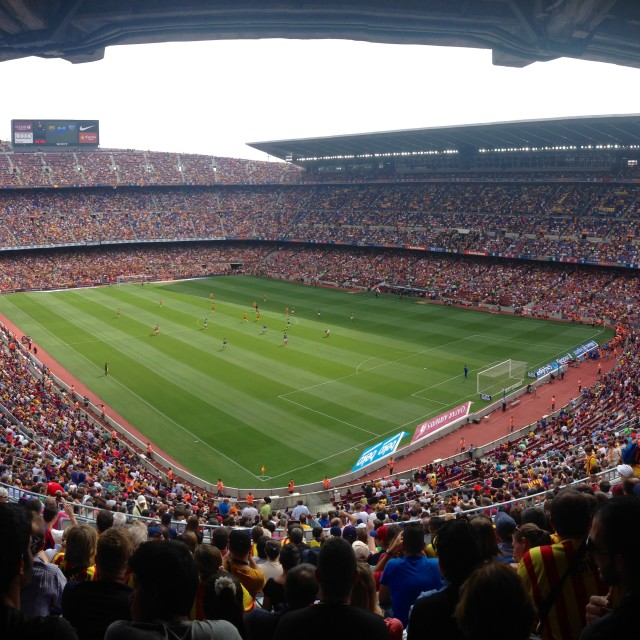 """Camp Nou Barcelona"" stock image"