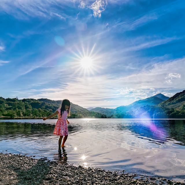 """My little ray of sunshine"" stock image"