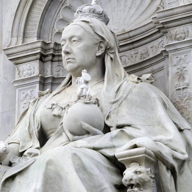 """Statue of Queen Victoria."" stock image"