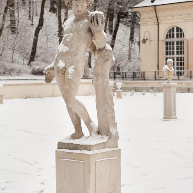 """Old Orangery figurine"" stock image"