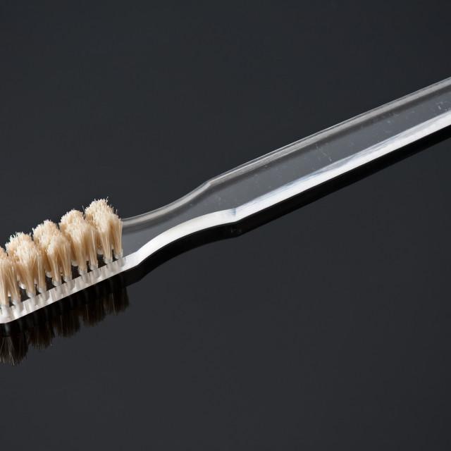 """Natural soft bristles toothbrush"" stock image"