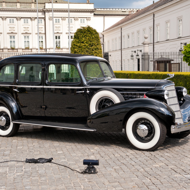 """Cadillac 355D car presentation"" stock image"