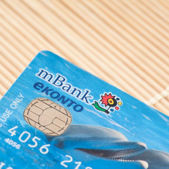 """Debit mBank card in Poland"" stock image"