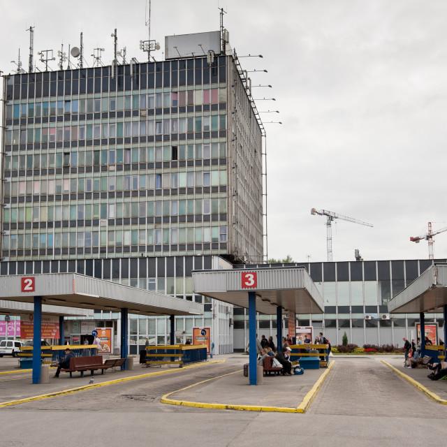 """""""Squalid Dworzec Zachodni"""" stock image"""
