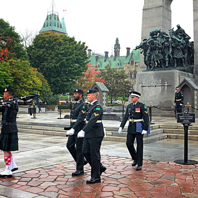"""""""Tomb of the Unknown Soldier Ottawa."""" stock image"""