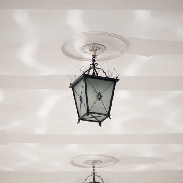 """""""Dangling decorative two lamps"""" stock image"""
