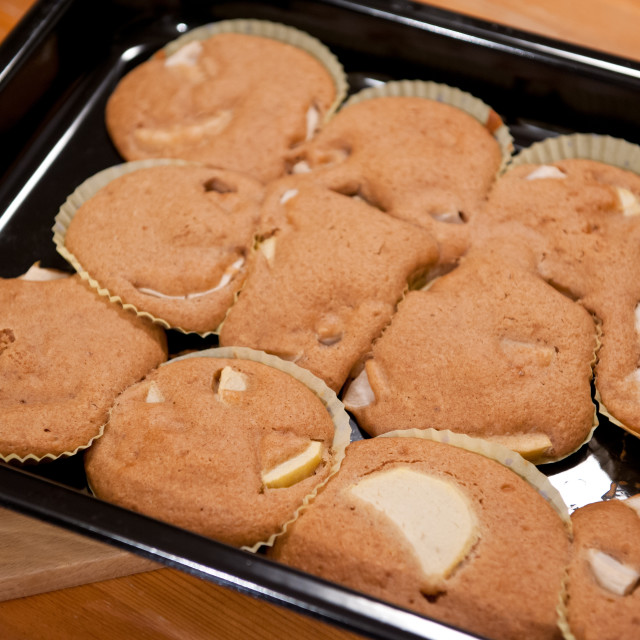 """Failed flat muffins disaster"" stock image"