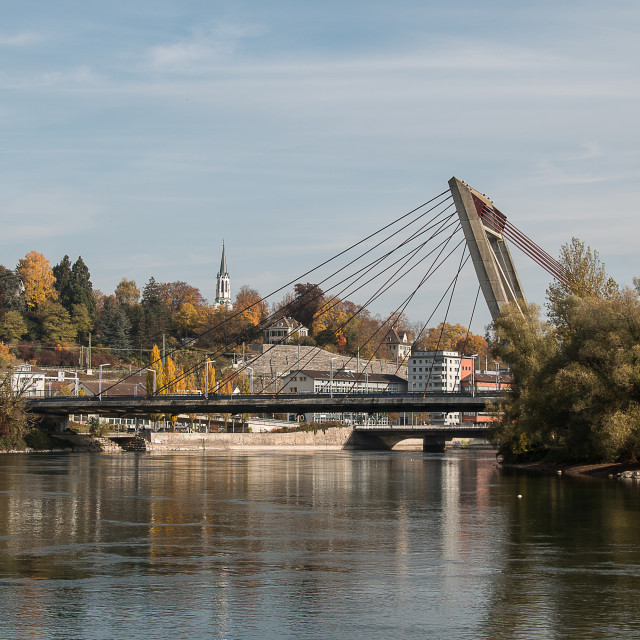 """The Rhine at Schaffhausen"" stock image"