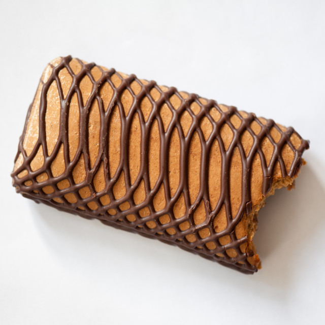"""Bitten gingerbread sweet bar"" stock image"