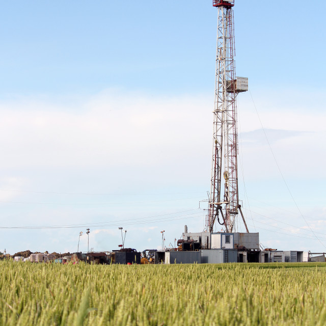 """""""land oil drilling rig petroleum industry"""" stock image"""