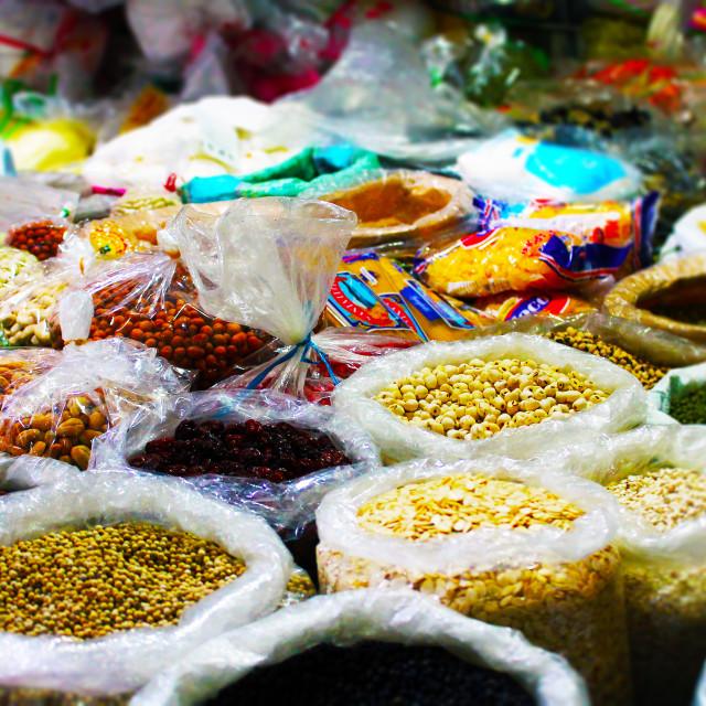 """Vietnamese Spice Market"" stock image"
