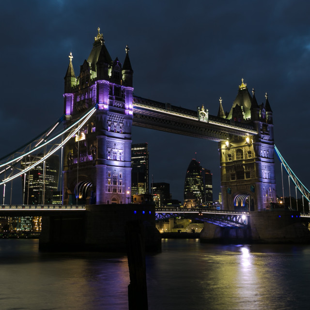 """Tower Bridge at Night"" stock image"