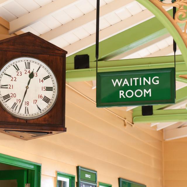 """vintage waiting room"" stock image"