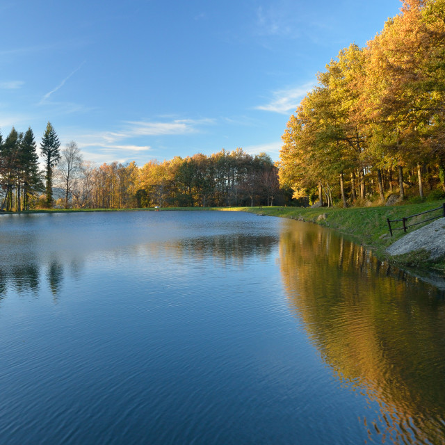 """""""Mountain lake in Casentino forest,Itlay"""" stock image"""
