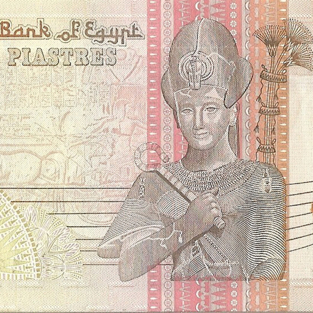 """International currency - Egypt pound notes in 50 pound denominations"" stock image"