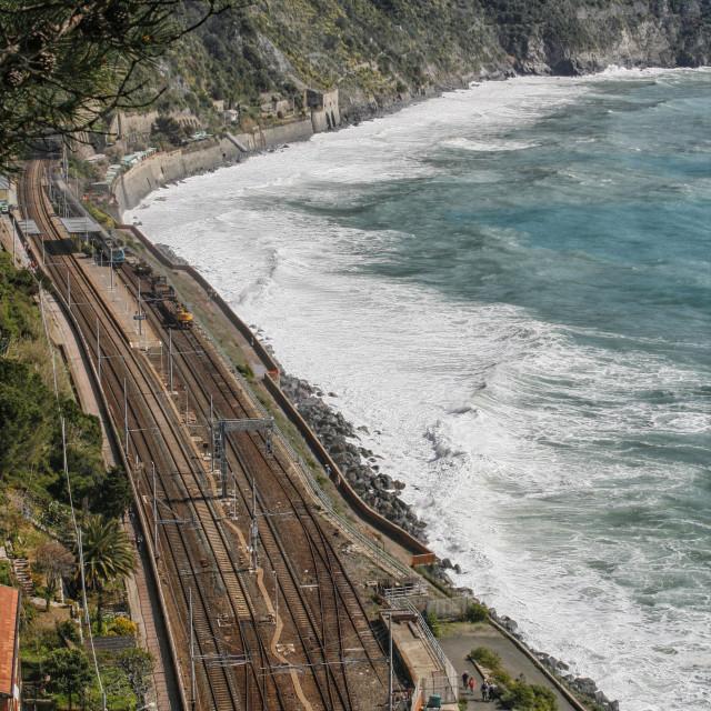 """Trainstation in Manarola Italy"" stock image"