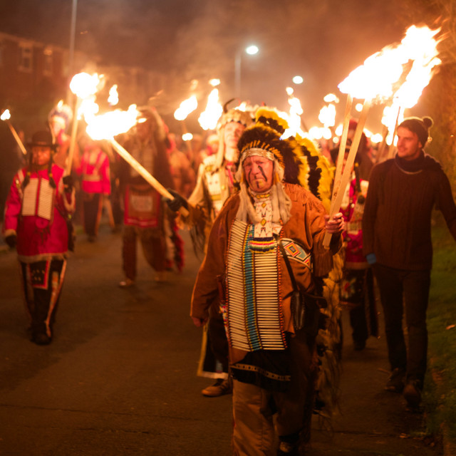 """Lewes bonfire night procession"" stock image"