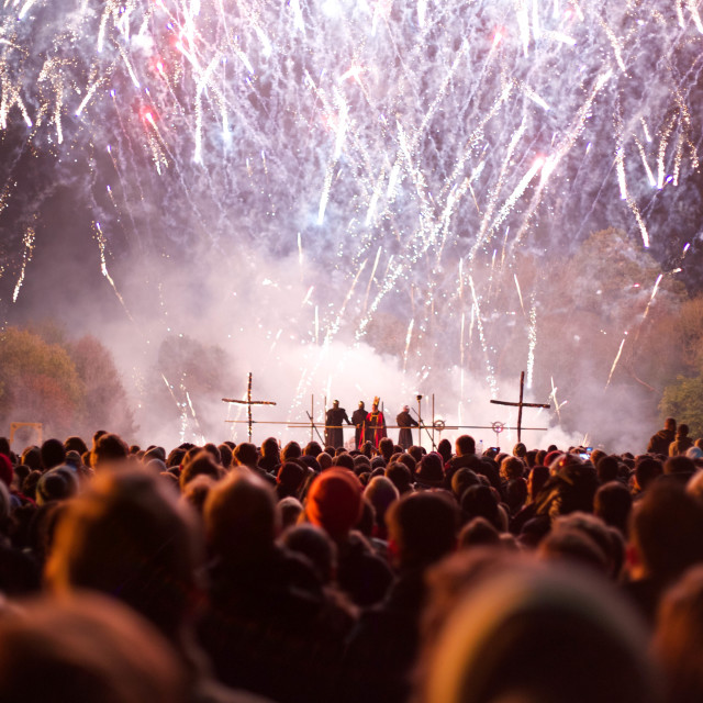 """Lewes bonfire night fireworks"" stock image"