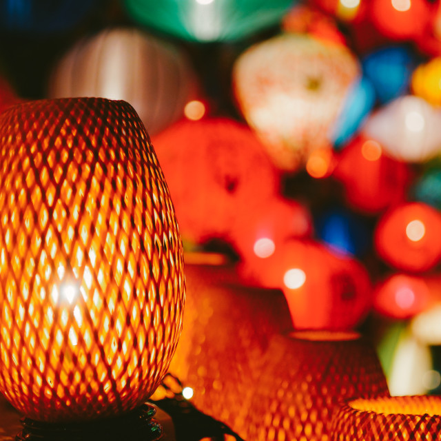 """Traditional lamps in Hoi An, Central Vietnam"" stock image"
