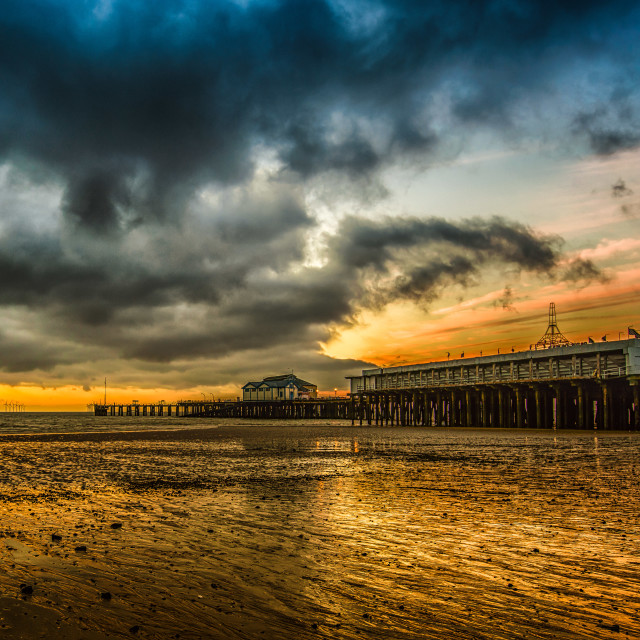 """Golden Hour Clacton Style"" stock image"