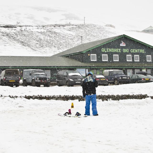"""""""Glenshee Ski Centre, Scotland"""" stock image"""