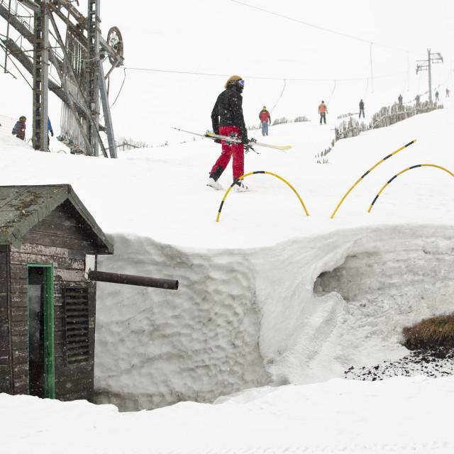 """Deep snow"" stock image"