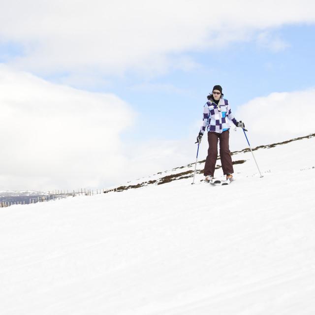 """""""Young woman enjoying ski holiday"""" stock image"""