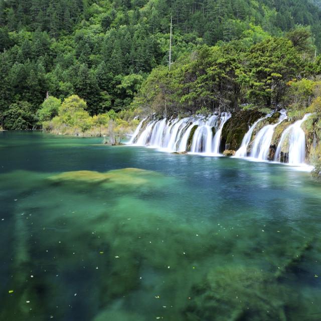 """Jiuzhai Valley National Park, China"" stock image"