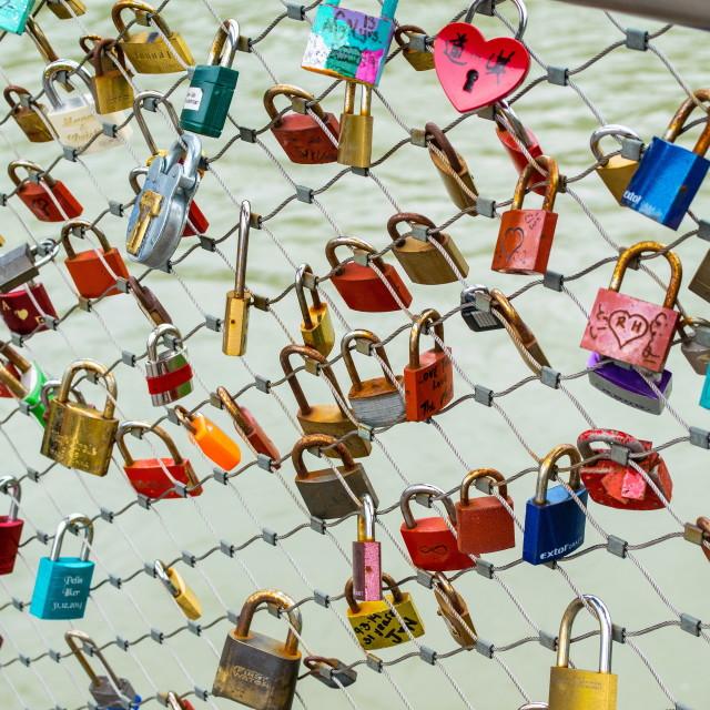 """Love padlocks"" stock image"