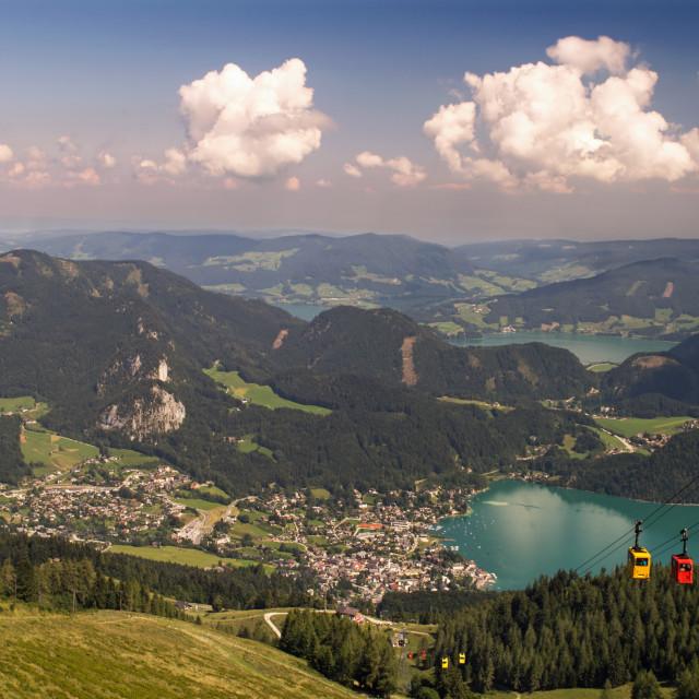 """St Gilgen and Lake Wolfgang (1)"" stock image"
