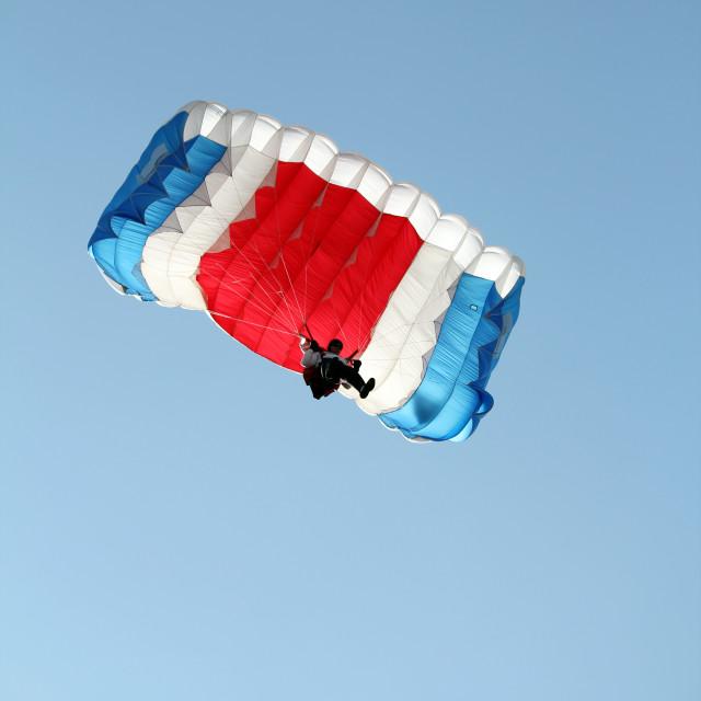 """parachutist on sky extreme sport"" stock image"