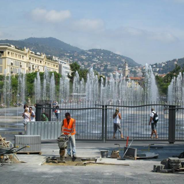 """The Fountains of Nice"" stock image"