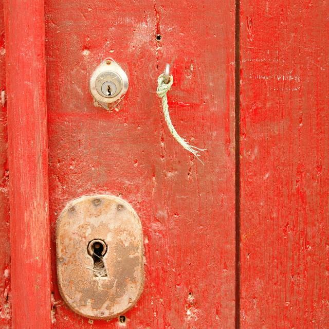 """""""Old aged keyhole"""" stock image"""