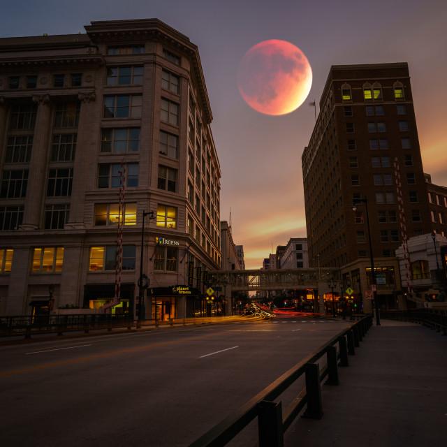 """Blood Moon"" stock image"