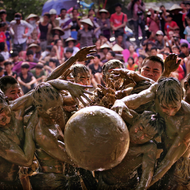 """Mud Wrestling Fetival in Vietnam"" stock image"
