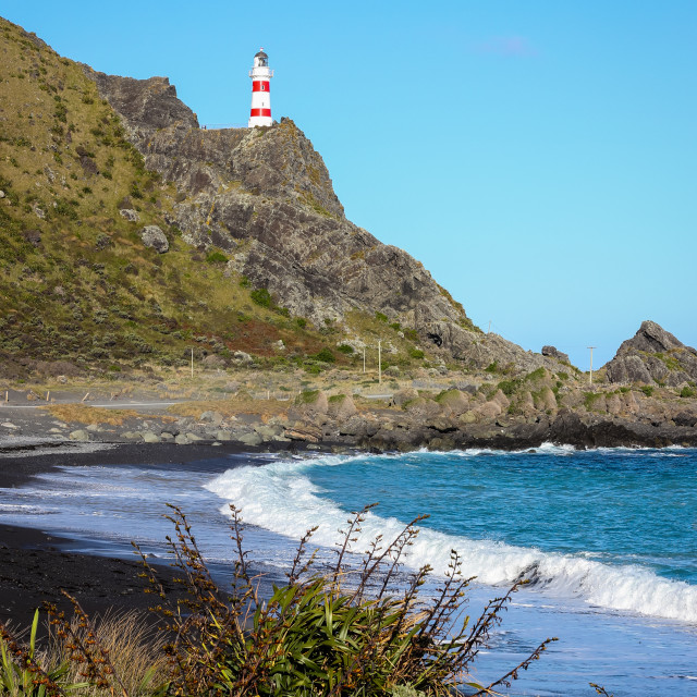 """Cape Palliser lighthouse."" stock image"