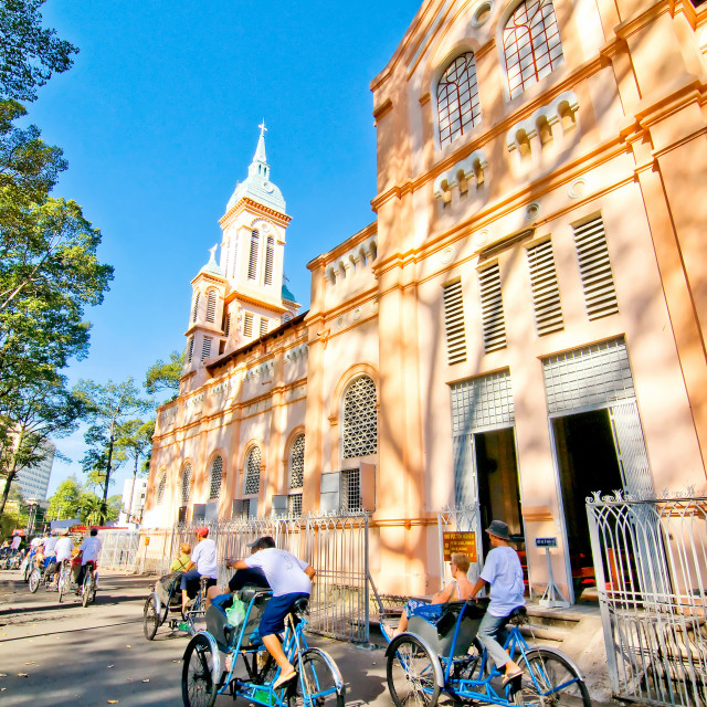 """Cyclo tour at Ho Chi Minh city, Vietnam"" stock image"