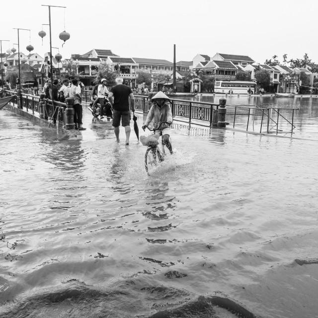 """Flooded Street, Hoi An, Vietnam"" stock image"
